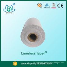 Venta caliente nueva tecnología en blanco sin etiqueta adhesivo linerless