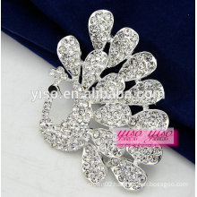 all clear crystal peacock animal brooch wholesale