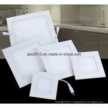 3W SMD2835 AC95-240V LED blanc lampe panneau carré