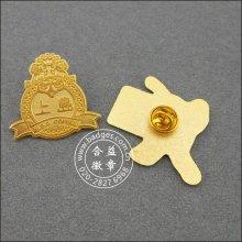 O ouro feito sob encomenda chapeou o emblema militar do metal (GZHY-BADGE-087)