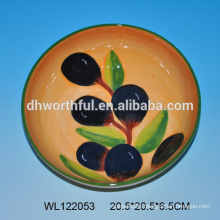 Wholesale ceramic plate with olive pattern