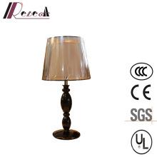 Lampe polie noire de table de chevet de résine pour le projet d'hôtel