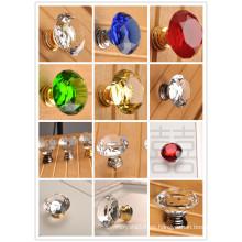 Perillas para gabinete de cocina de cristal transparente K9 Perilla de vidrio transparente