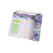 Canvas Colored Pencil Pouch Case Travel Drawing Sketching Coloring Pencil Roll Organizer for Student Artist Adult