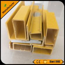 Preço de fábrica FRP fibra de vidro pultruded perfil do tubo redondo e retangular a partir de China