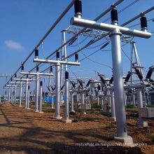Estructura de soporte de transmisión de potencia de 35 kV del bus de subestación