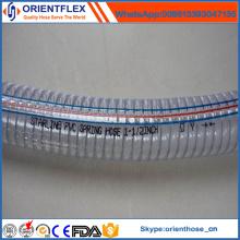 Mangueira reforçada do fio de aço do PVC da luz do Certifacate do ISO