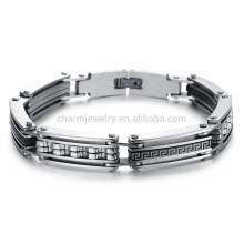 American jewelry jewelry creative personality pattern influx of men will go out wearing a titanium steel bracelet GS733