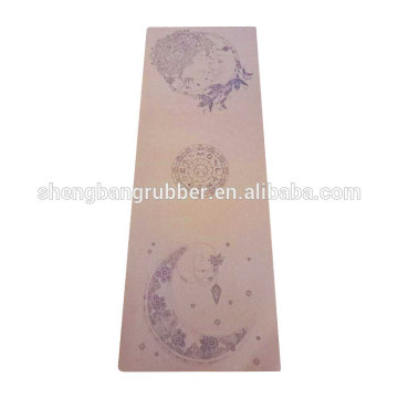 Fitness Pilates eco friendly cork yoga mat with custom printing CMYK printed