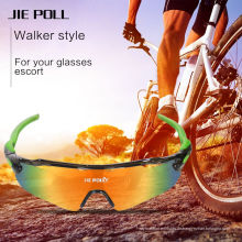 Jie Polly Radfahren Sport Sonnenbrille UV400 Sonnenschutzbrille 3 Linsen Farben
