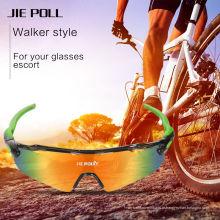 Jie Polly ciclismo esportes óculos UV400 proteção óculos de sol 3 lentes cores