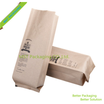 Kraft Paper Side Gusset Coffee Bag Pouch