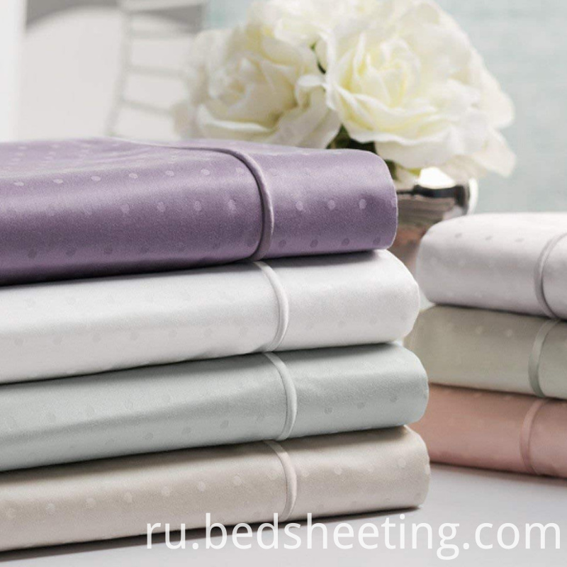 Organic Cotton Jacquard Solid Dyed Sheet