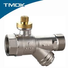 Válvula de bola de latón bloqueable de alta calidad con filtro Valvula en china