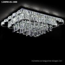 lámpara grande de lujo led iluminación decorativa de cristal