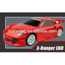 Nuevo coche rc, coche de touring 1/10 X-ranger EBD, coche de la deriva rc con sistema de luz