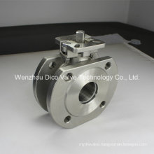 Investment Casting Stainless Steel Wafer Ball Valve with New Platform
