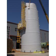 Tanque de fibra de vidro para aplicações em produtos químicos, celulose e papel