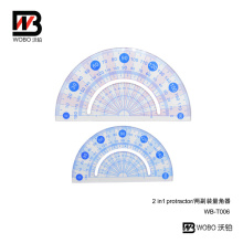 Office Stationery Plastic Protractor Ruler for School
