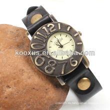 Antiguo cuero negro reloj promoción KSQN-07