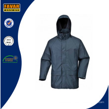 Wholesale High Quality Polyester Raincoat with PU Coating