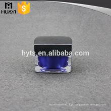 frasco acrílico cosmético feito-à-medida feito sob encomenda com tampa