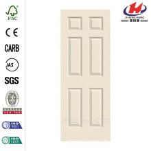 30 in. x 80 in. Cheap Woodgrain 6-Panel Eyebrow Top Solid Core Painted Molded Interior Door Slab
