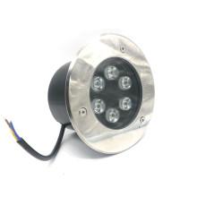 Impermeable al aire libre IP67 6W empotrable LED Iluminación de la cubierta de la escalera de paso enterrada (12V 24V AC / DC 110V 220V blanco cálido, blanco frío, amarillo, verde, azul, rojo, color RGB)