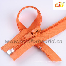 5# Nylon Zipper Open End With Metal Stop and Bottom