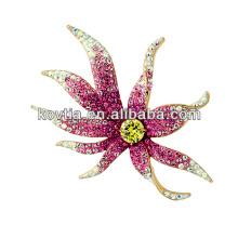 Luxuoso broche de diamante noiva broche de casamento da moda