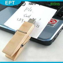 Real Clip Holz Material OEM Großhandel USB-Stick (TW034)
