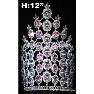Corona de tiara turquesa con banda ajustable