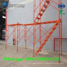 Acier d'échafaudage de système de cadre en acier pour la construction