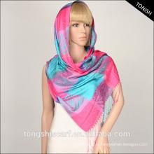 2015 мода окрашенная пряжа жаккард ткань тартан плед шарф платок на Ближнем Востоке
