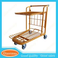 chariot à main plat à deux étages