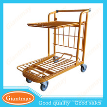 two tiers flatform hand trolley