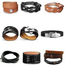 Mens Zubehör Lederband Armband Leder Bands