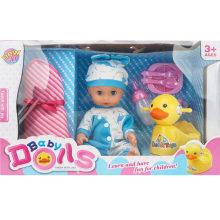 Muñeca de la botella de enfermera del pato del bebé del muchacho