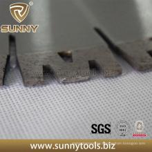Segmento de granito con corte de diamante en forma de W para sierra de diamante de 300 mm a 800 mm