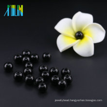 Wholesale Loose Strands 12mm Glass beads UA80 Jet Black Pearls in Bulk