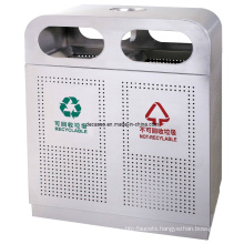 Stainless Steel Recycling Outdoortrash Can / Litter Bin (DL43)