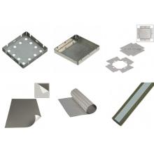 Componentes metálicos de blindagem EMI