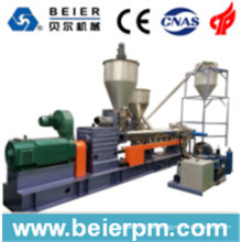 En paralelo Twin-Screw Hot-Air Plástico-Cara-Maestra Masterbatch Pelletizing / Compounding / Recycling / Granulating Machine