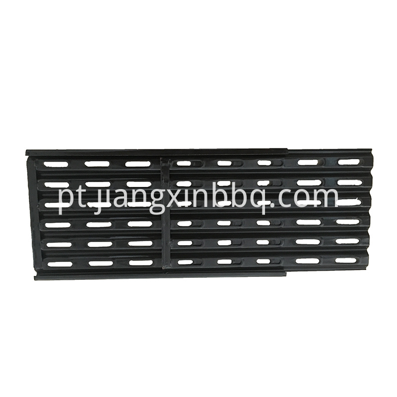Adjustable Porcelain Enameled Bbq Heat Plate Black View