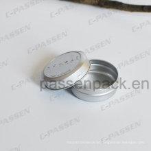 Frasco de creme cosmético de alumínio de 20ml com tampa do deslizamento