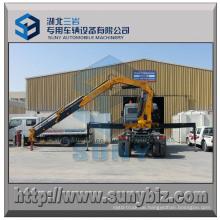 10 Tonnen-faltender Arm-Kran brachte LKW an