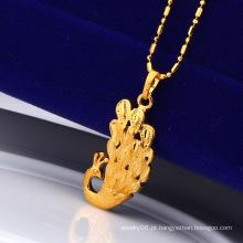 Pingente Xuping pavão banhado com ouro 24k