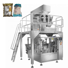Automatic Rotary Bag-given Frozen Food Packaging Machine For Dumpling Seafood Meat