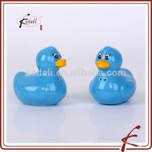 ceramic funny duck shape color glazing salt and pepper