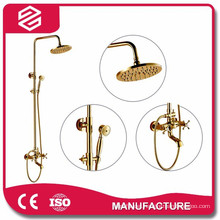 high quality gold water saving shower set
